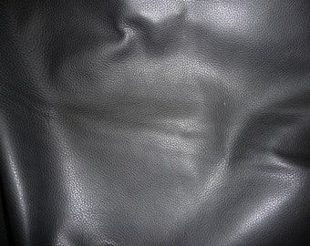 "Leather 12""x12"" Soft Black Made to RESEMBLE Deerskin COWHIDE 3oz / 1.2mm PeggySueAlso™ Full hides available"