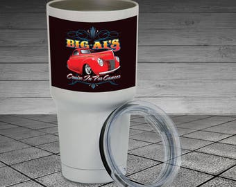 Your Personalized Photos/Text PRINTED On 30 oz Yeti Type Insulated Tumblers.  Free S&H! NOT VINYL!