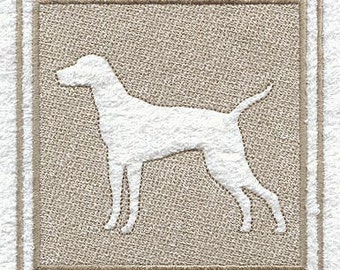 Vizsla Embossed Style Embroidered Flour Sack Hand/Dish Towel