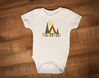 Wilderness, Camping Explore Baby Outfit, Adventure-- One piece, Bodysuit, Creeper