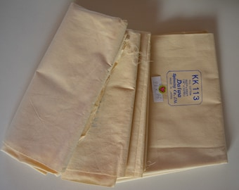 Cotton calico fabric remnants, 3 pieces, Japanese fabric, Daiwa Spinning Co.