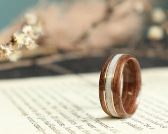 Wood Antler Wedding Rings from Historic Woods by RusticAndMain