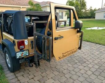 Jeep Wrangler Door Carrier - On Board Carrying System - 2 Door JK Models & Removing jeep doors | Etsy