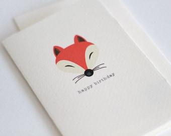 Happy birthday fox card // Card with a fox // birthday card // happy birthday card // fox birthday // foxy birthday // card with a fox