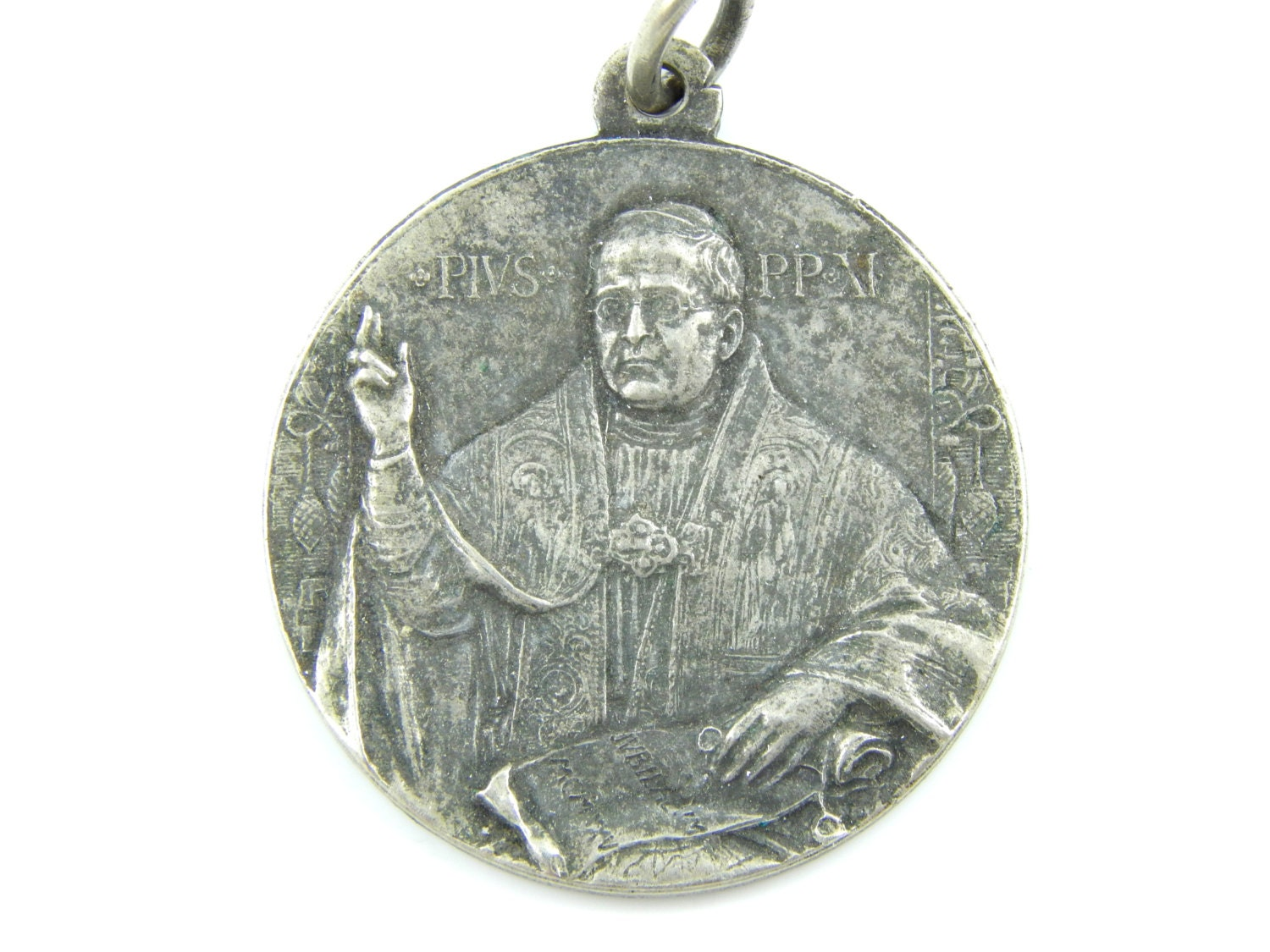 michael medallion inch company sterling saint the st patron medal silver catholic chain medals