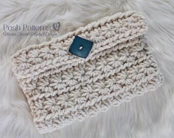 Crochet Pattern - Crochet Clutch Pattern - Crochet Pattern Handbag - Crochet Patterns - Crochet Wallet Pattern - Crochet Accessory - PDF 450