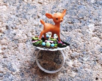 Floral Bambi Ring