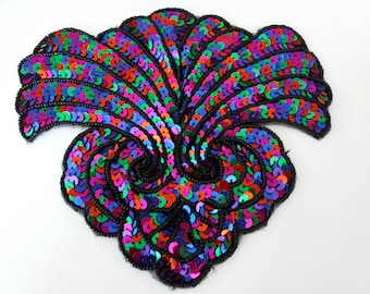 BEAUTIFUL APPLIQUE SEQUINS beads 16 x 15 CM