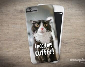 iPhone 8 - Cat iPhone 7 Plus Case - Coffee iPhone 7 Plus - Cat iPhone 8 Plus - Cat iPhone 7 Plus Case - Funny iPhone Case - Cat iPhone Cover