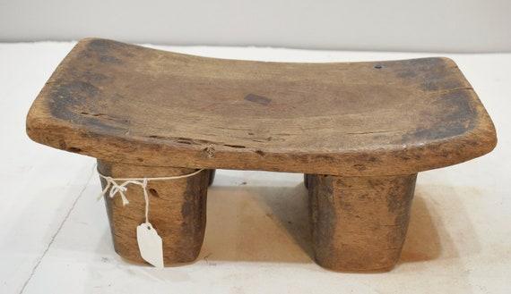 African Stool Lobi Wood Carved Stool Burkina Faso Ceremonial Status Prestige Stool
