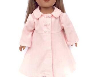 18 Inch Doll Coat, Light Pink Corduroy Doll Coat, 18 Inch Doll Clothes, Spring or Winter Doll Clothes