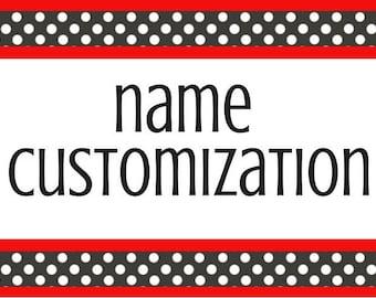 Name Customization add-on