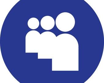 Social Media Icons - Individual (Circular) - MySpace