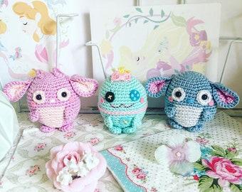 Scrump, Stitch and Angel from Lilo and Stitch crochet amigurumi doll plush ufufy