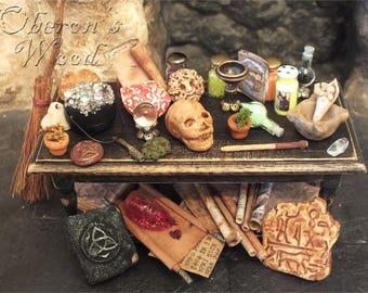 Witch's Table, Alchemist, Wizard Paraphernalia