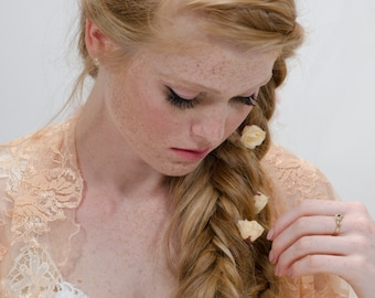 Bridesmaids Shrugs, Bridesmaids Set Of 6 Shawls, Bridesmaids Shawls, Bridesmaids Boleros, Bridesmaids Cover Ups, Apricot Or Bronze Lace Wrap