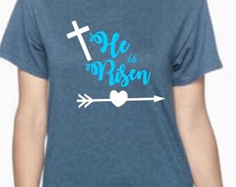 He Is Risen Shirt | Easter shirt | He Is Risen Cross | Easter Shirt | t-shirts and raglans