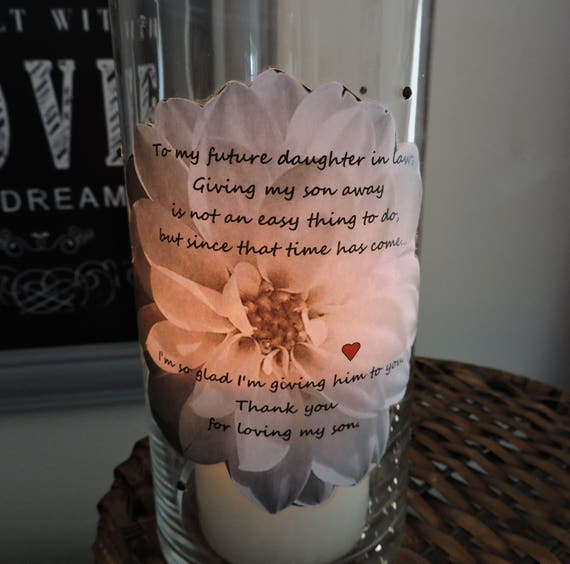 Gifts For Inlaws At Wedding: Future Daughter In Law Candle Holder Daughter In Law Gift