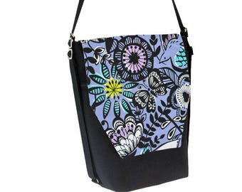 Convertible Backpack - Sling Purse - Shoulder Bag - iPad Purse - 3 ways to wear - Messenger Bag - REMOVABLE FLAP - Periwinkle