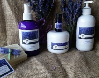 Lavender Oil ,Lotion,Soap and Creme Set