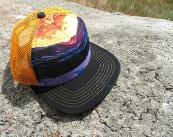 Orange Mountain Sunset- Kids Trucker Hat. Inspired by Youth and Designed in Colorado!