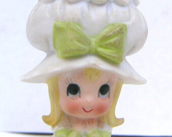 Vintage Figurine, Pin Cushion, Lefton China,Hand Painted,Sewing,Crafting,Stocking Stuffer