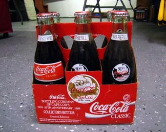 Coca Cola - Collectors Bottles - 50th Anniversary of Cape Cod Bottling Company - 1989