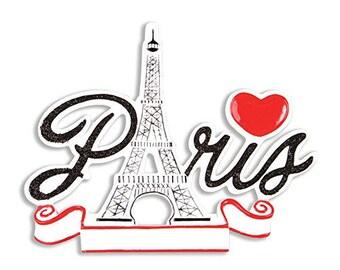 Paris France Personalized Christmas Ornament