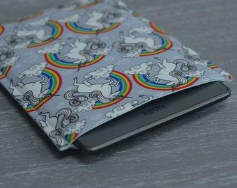 Kindle Paperwhite Case, Kindle Paperwhite Cover, Kindle Paperwhite Sleeve, iPad Mini Cover, iPad Mini Case, Rainbow Unicorn, Unicorn Case