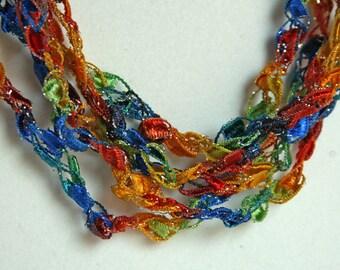 Fiesta - Crocheted Necklace