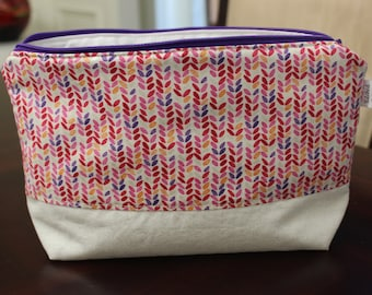Summer Multi Color Print Project Bag