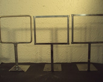 Antique store display sign holders set of 3 grocery store advertising signs
