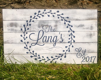 White Family Name Sign, Large Last Name Sign for Wedding, Large Family Established Sign, Big Established Sign, Large Wedding Name Sign Est