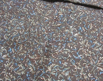 Brown Leaf print Quilting Fabric from David Textiles 2 yards