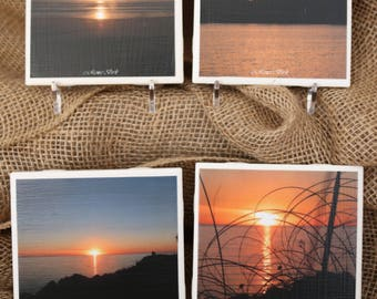 4x4 Ceramic Coasters: Sunsets (set of four)