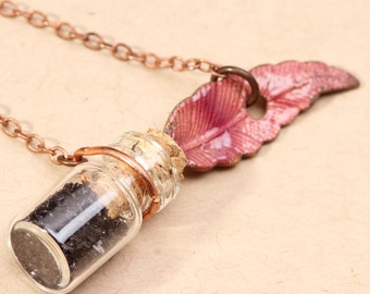 Feather Quill Ink Well Necklace Feather Ink Quill Necklace Feather Necklace