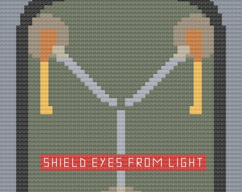 Flux Capacitor Cross Stitch digital chart