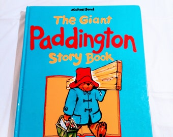 The Giant Paddington Story Book, Hard Cover Book by Michael Bond, 1989 Edition, Dragon Books