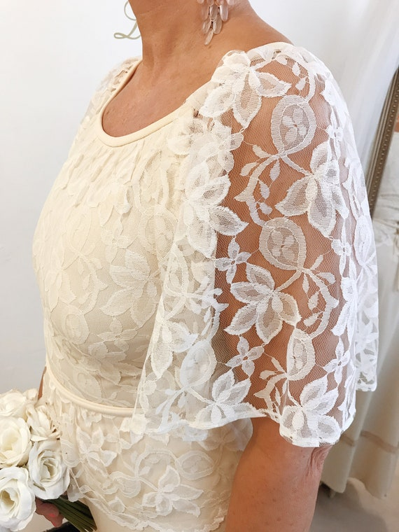 1970s Festival Lace 14 Sleeves Dress UK Bohemian Wedding Wedding Dress Dress 12 Wedding US10 Dress Boho Wedding 12 Hippie wvYzXazq