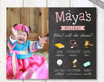 Korean board etsy korean 1st birthday board poster korean first birthday chalkboard sign personalized backdrop soft pink digital file filmwisefo