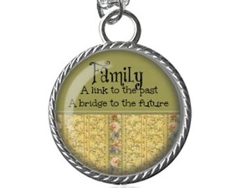 Remembering mom necklace in loving memory lost love one family necklace link to the past bridge to the future inspirational quote image aloadofball Gallery