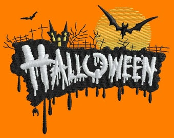 Halloween Embroidery Design