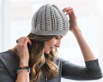 Instant download, crochet hat pattern, cotton slouchy hat pattern, crochet slouch hat pattern, womens slouchy hat pattern, OK to sel