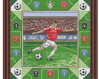 Football Magic Cross Stitch Picture PDF Chart