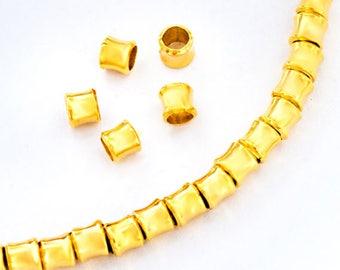 20 of Karen hill tribe  24K Gold Vermeil Style Hourglass Beads 3.5x4 mm. :vm1075