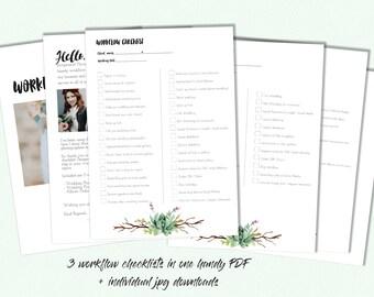 Wedding Photographers Essential Workflow Checklists