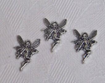 3 charms, Tibetan silver fairies
