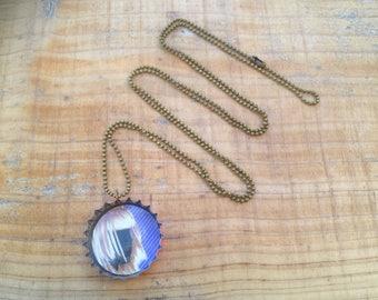 Jewelry pendant recycled beer Cap