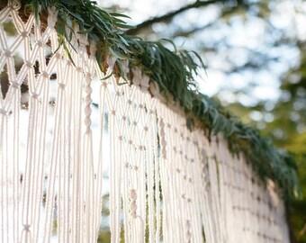 Boho Wedding Arch for Altar or Home Decor.  Unique Macrame Wedding Ideas