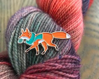 Button the Fox Soft Enamel Pin